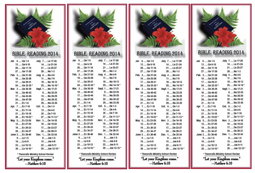 2014 Bible Reading
